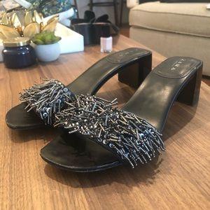 Zara Sequin Sandal Heels